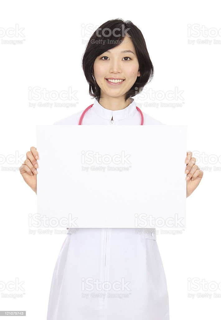 Young asian nurse royalty-free stock photo
