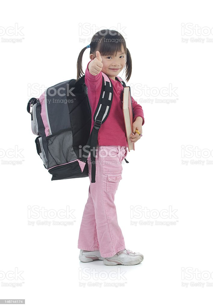 Young Asian School Girl royalty-free stock photo
