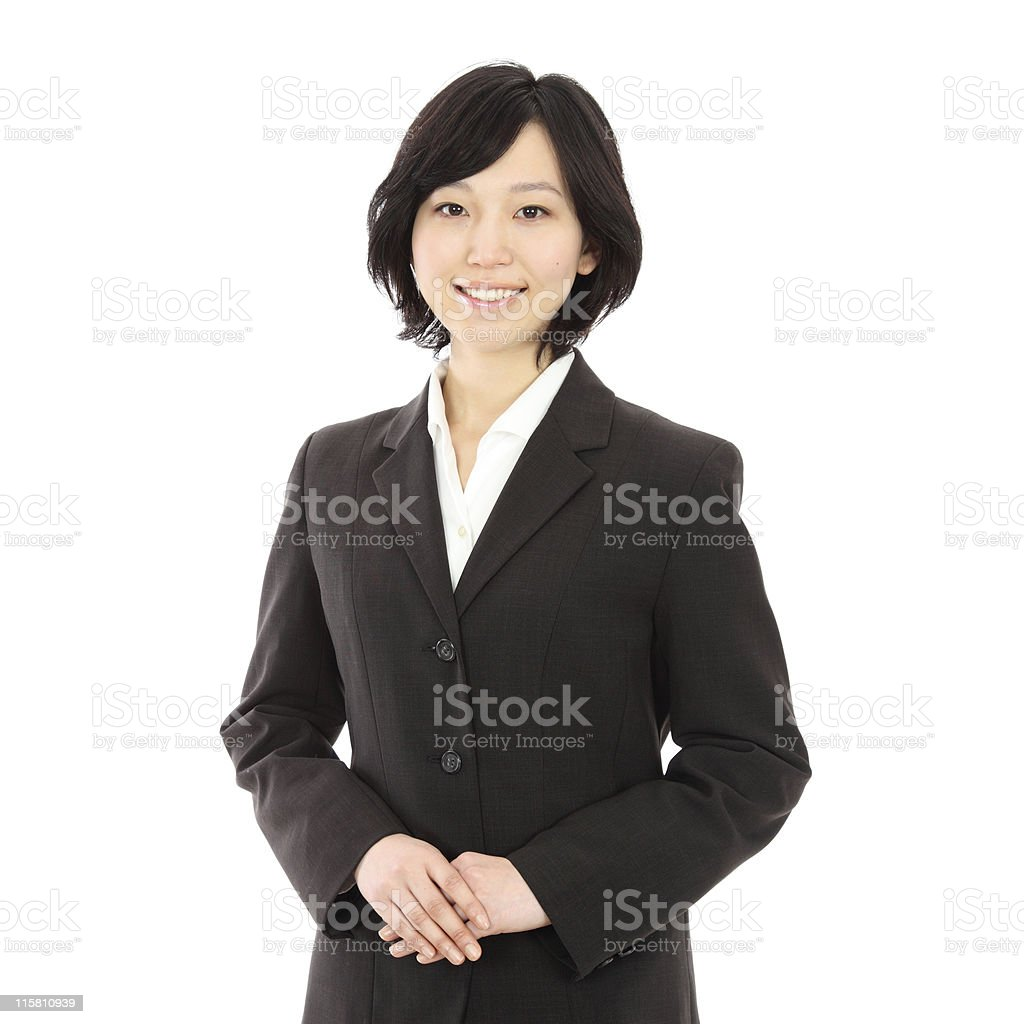 A young Asian woman in a business suit royalty-free stock photo
