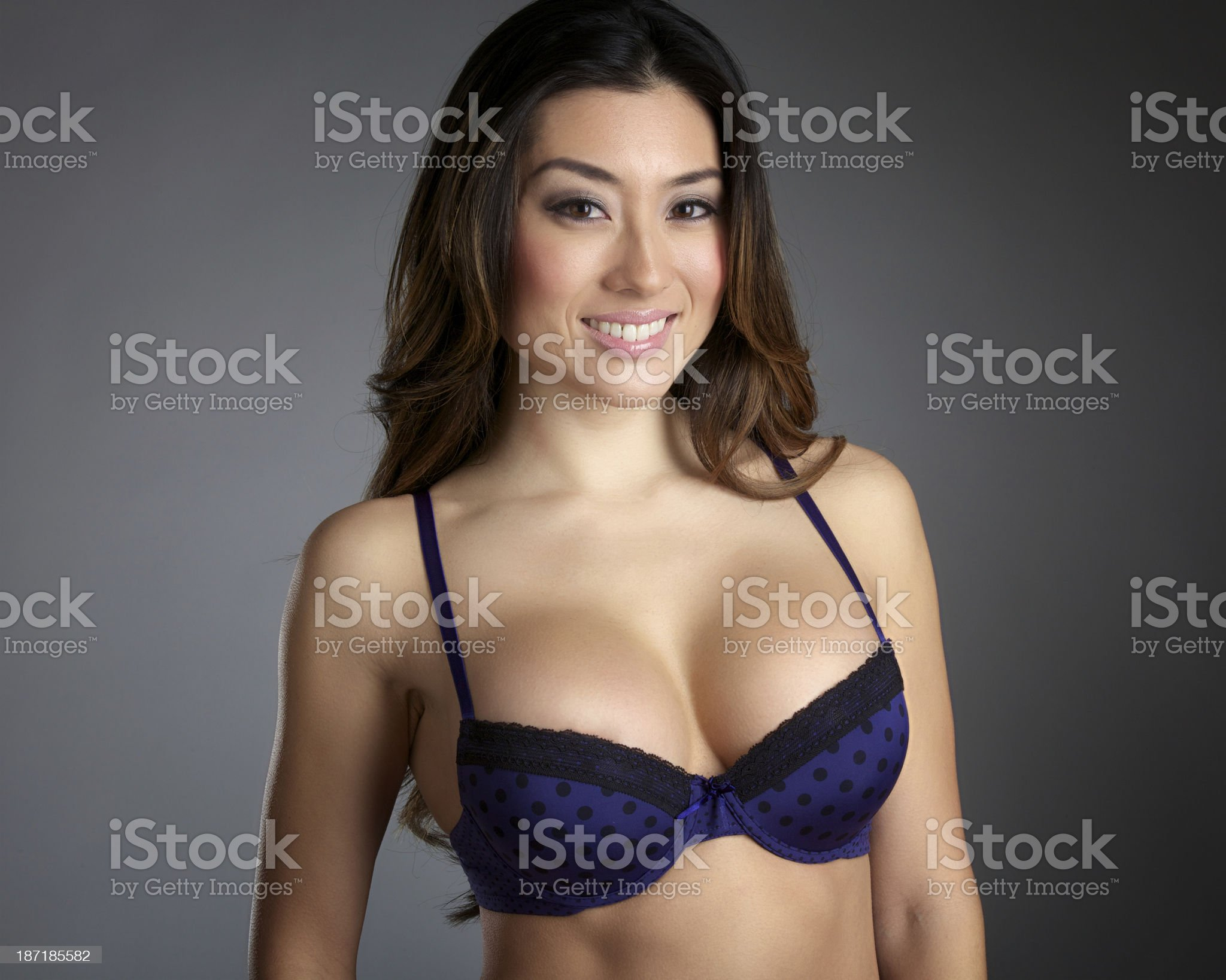 Young Asian Woman In Bra royalty-free stock photo