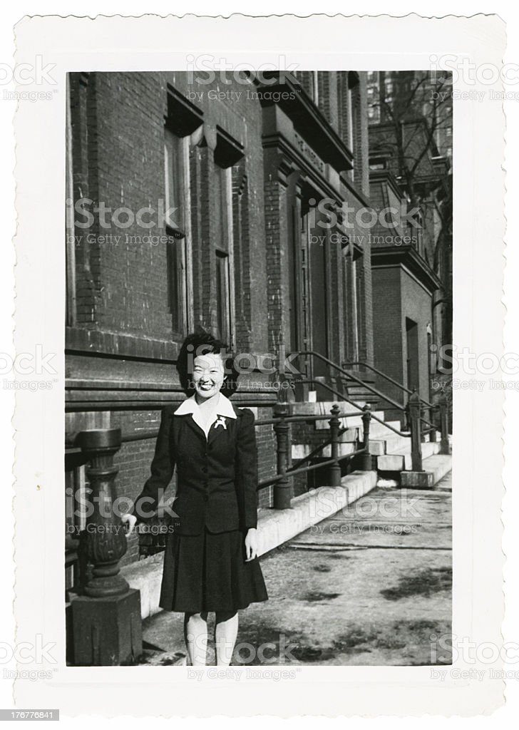 Young Asian Woman in the City stock photo