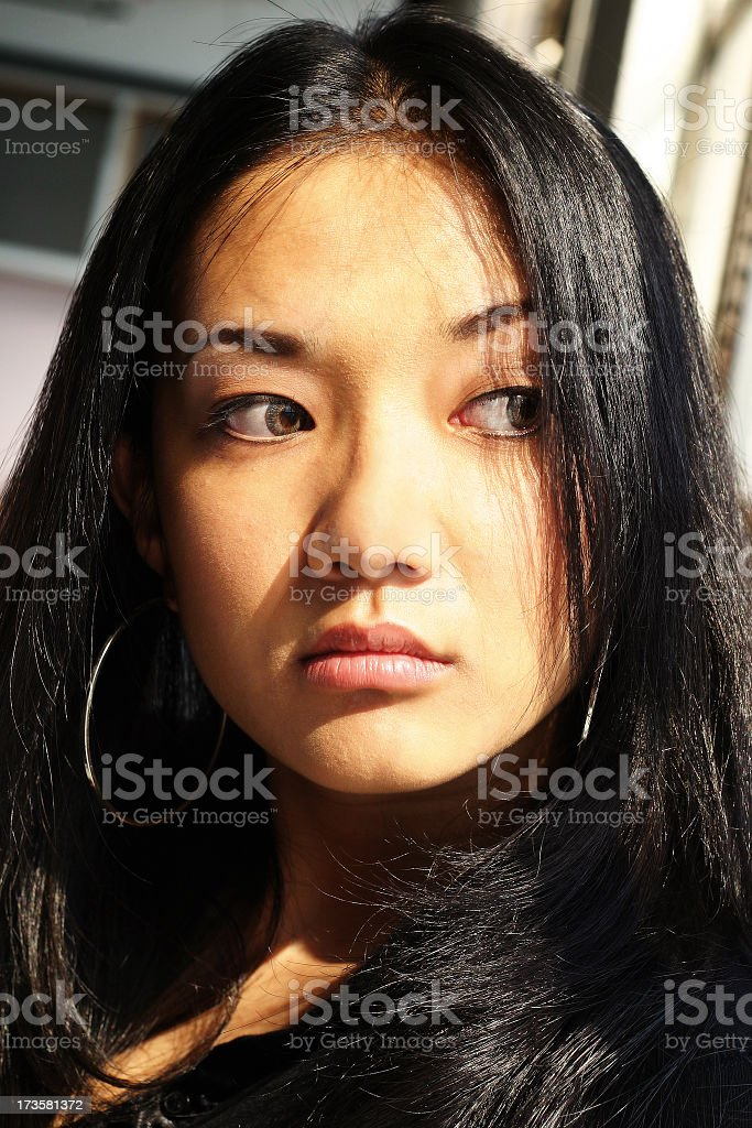 Young Asian Woman - Portrait stock photo