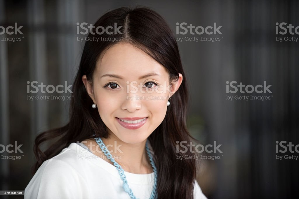 Young Asian woman portrait stock photo