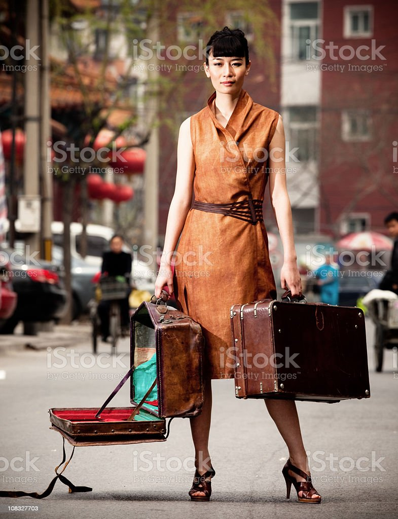 Young asian woman posing royalty-free stock photo