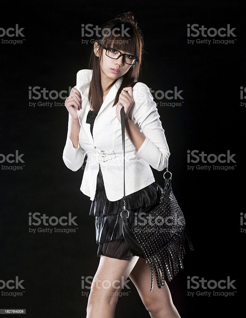 Young asian woman posing. royalty-free stock photo