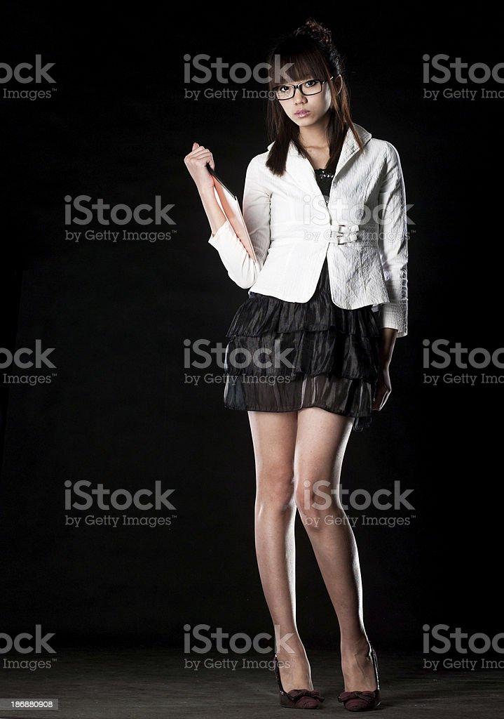 Young asian woman posing. royalty-free stock photo