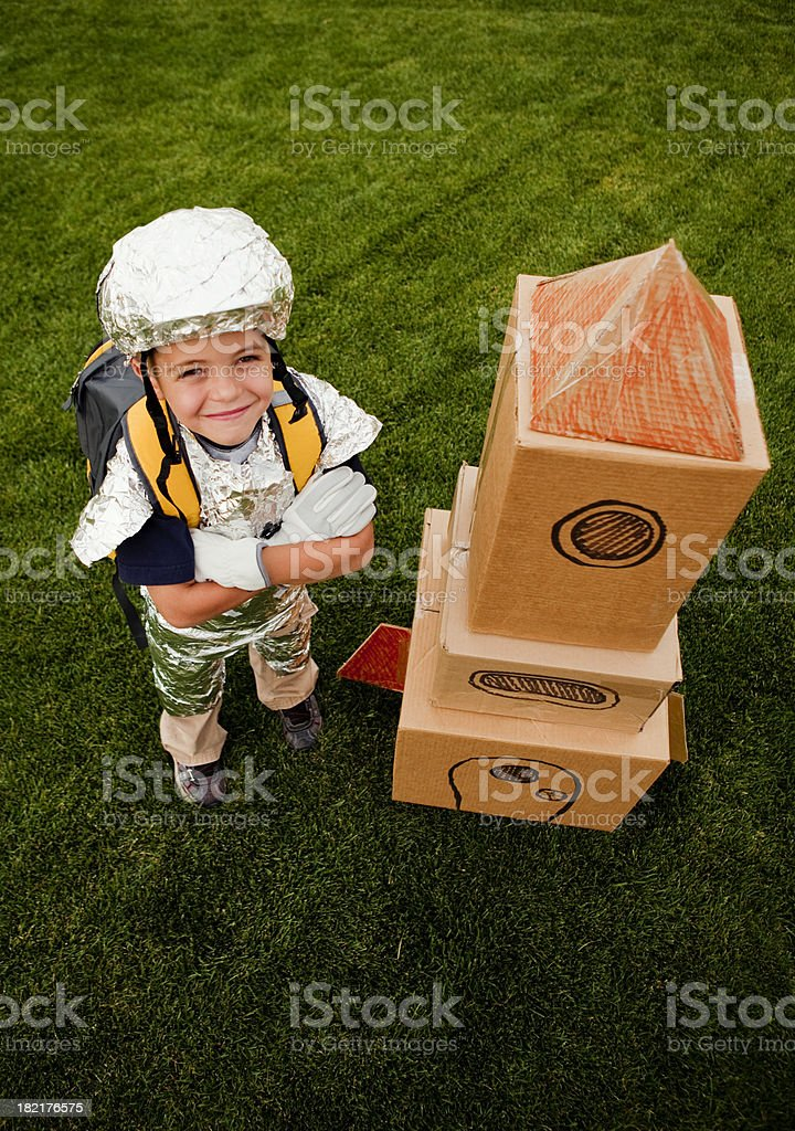 Young Astronaut royalty-free stock photo