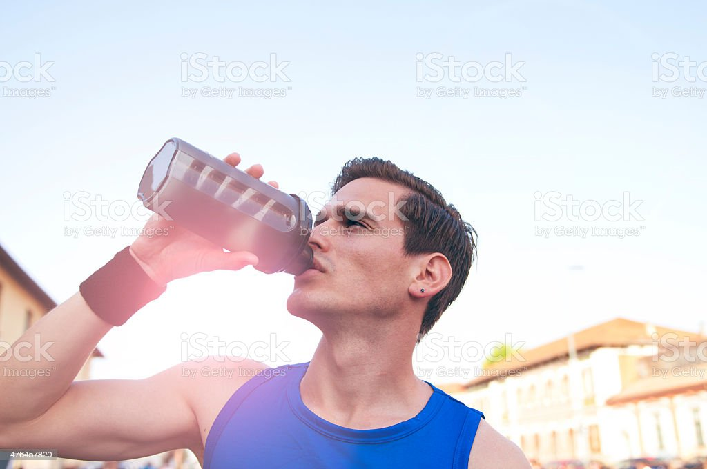 Image result for athlete drinking shake