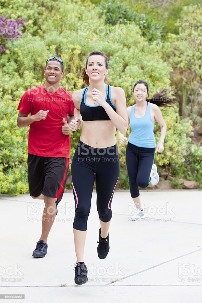 Young athlete excercising in the park royalty-free stock photo