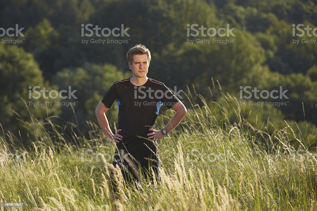 Young athlete royalty-free stock photo
