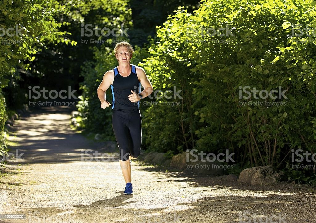 Young Athlete Running royalty-free stock photo