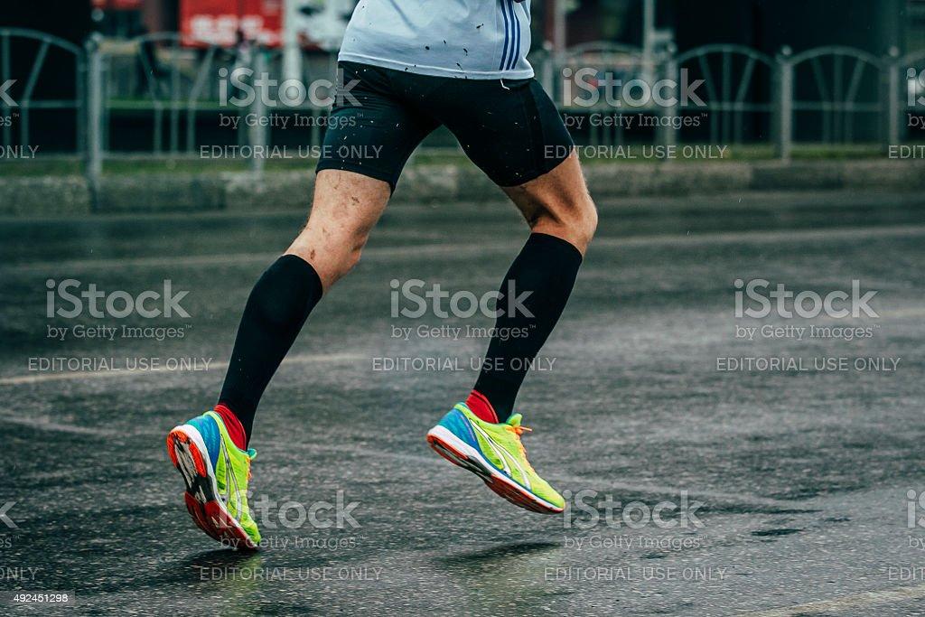 젊은 선수 하수관 마라톤 royalty-free 스톡 사진