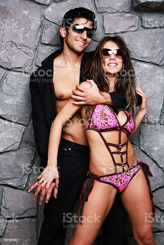Young Athletic Fashion Couple royalty-free stock photo