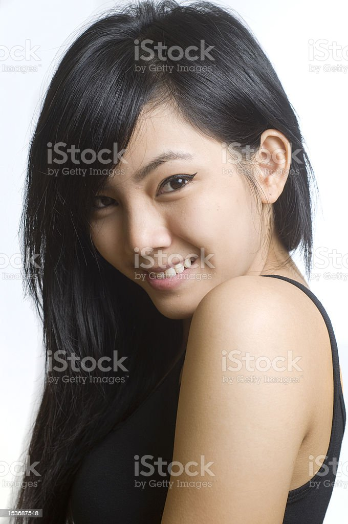 Young attractive Asian woman royalty-free stock photo