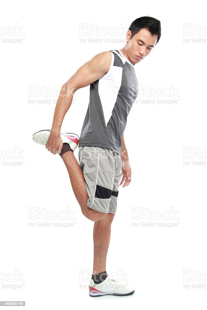 Young attractive athlete stock photo