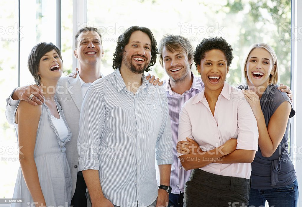 Young attractive business people royalty-free stock photo