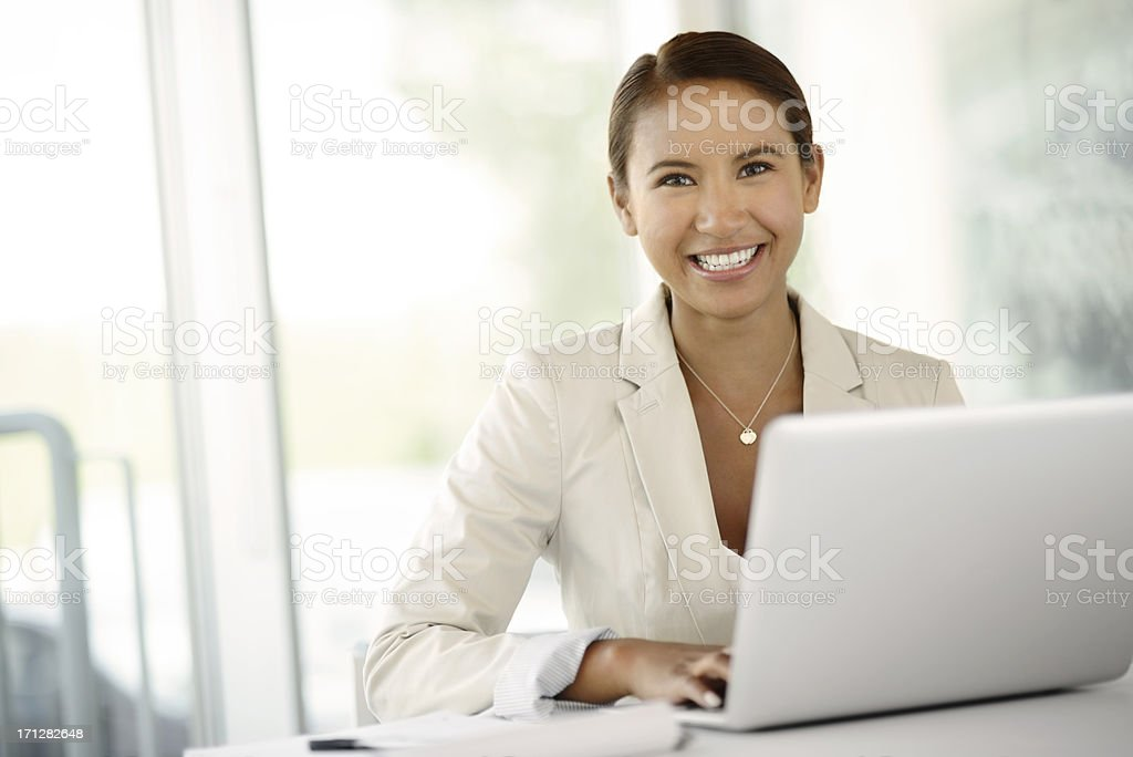 Young Attractive Business Woman stock photo