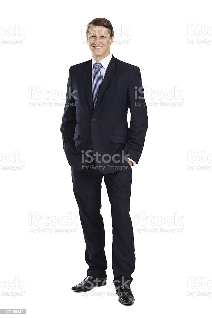 Young attractive businessman stock photo
