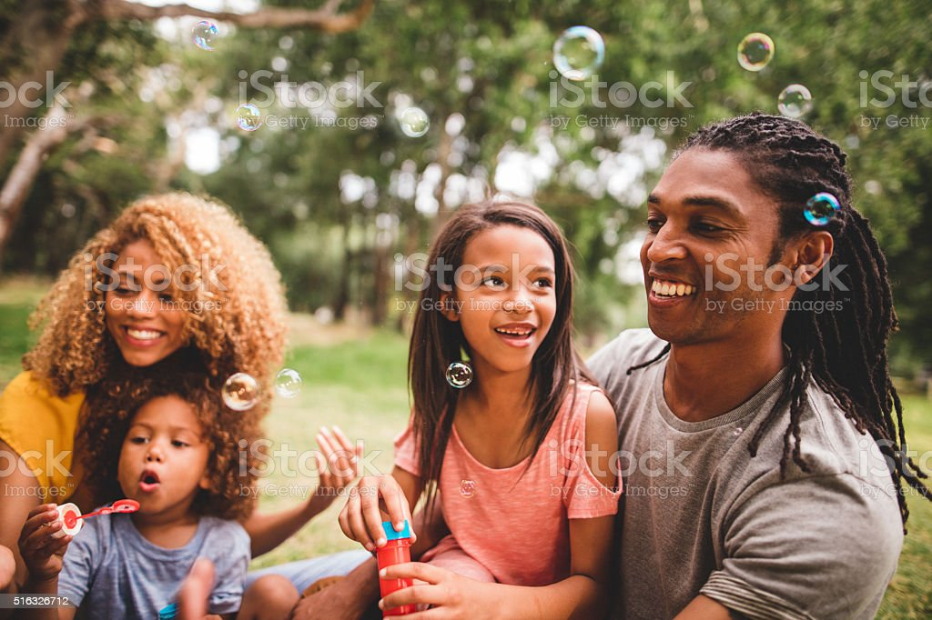 Young attractive couple spending time in the sun stock photo