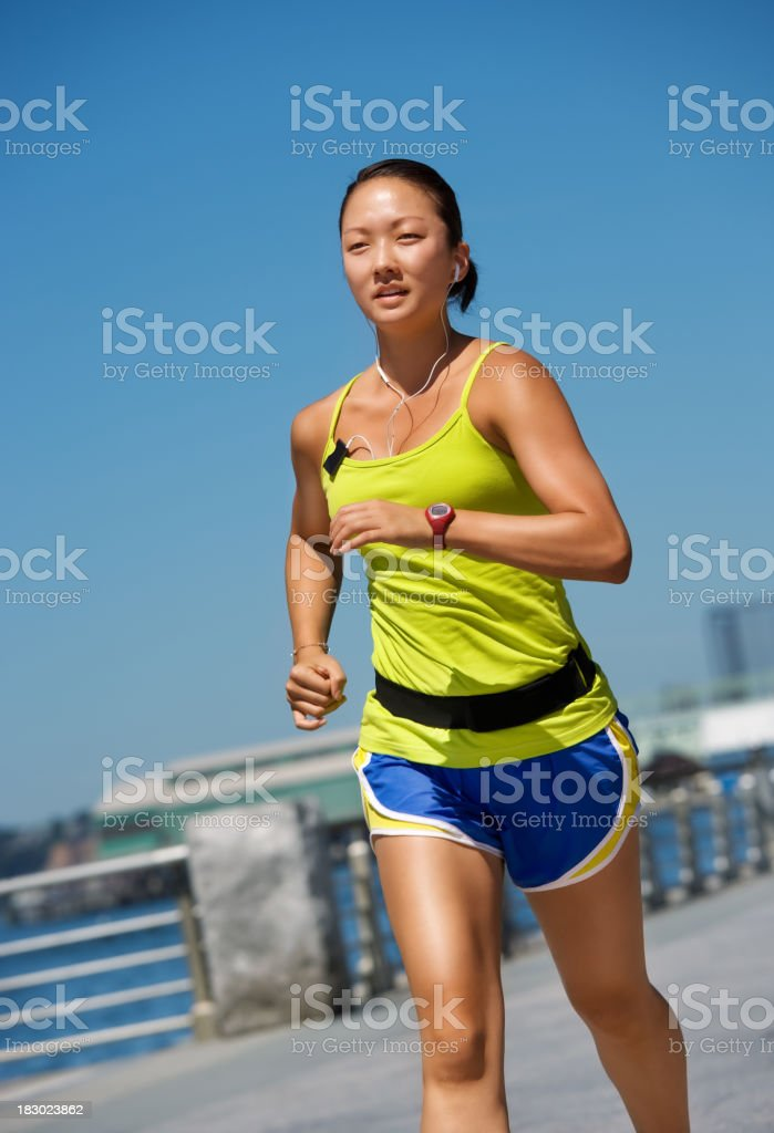 Young attractive female running royalty-free stock photo