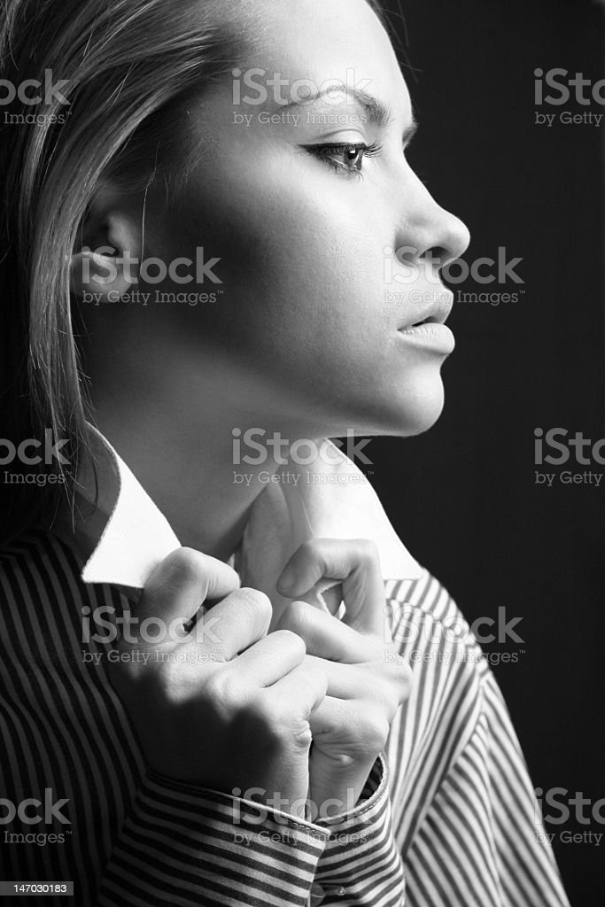 Young attractive lady royalty-free stock photo