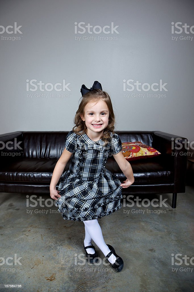 young attractive little girl stock photo