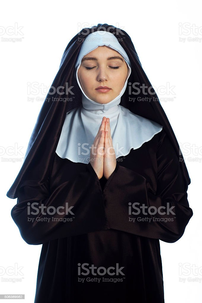 Young attractive nun. stock photo