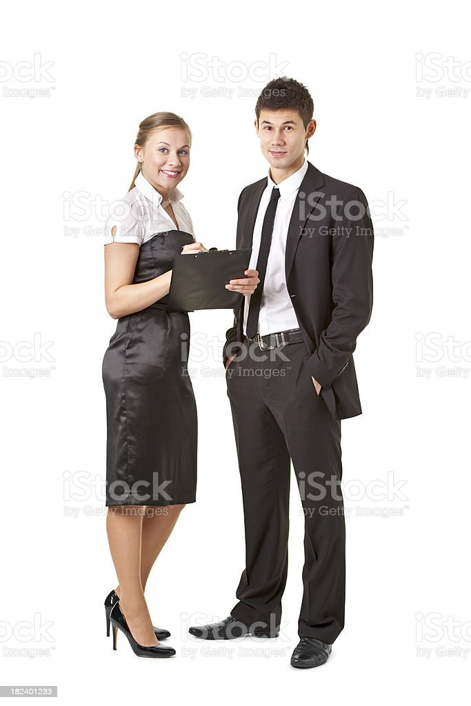 young attractive woman and man royalty-free stock photo