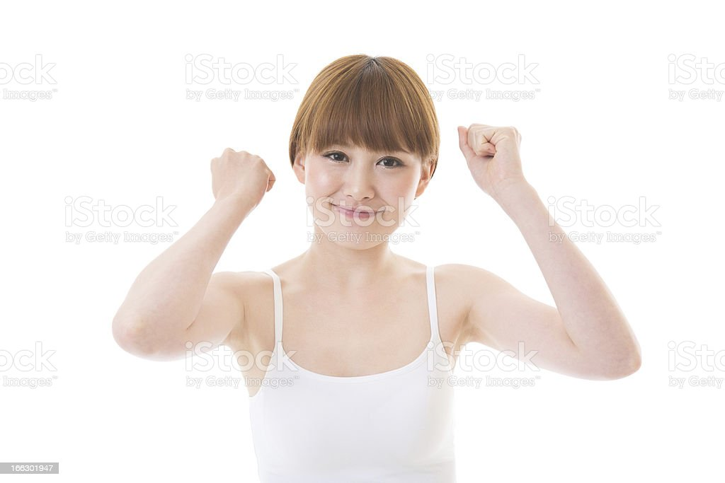 Young attractive woman stock photo