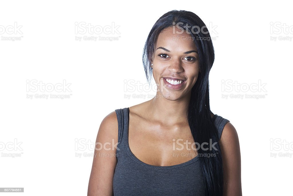 Young Australian Aboriginal Woman stock photo