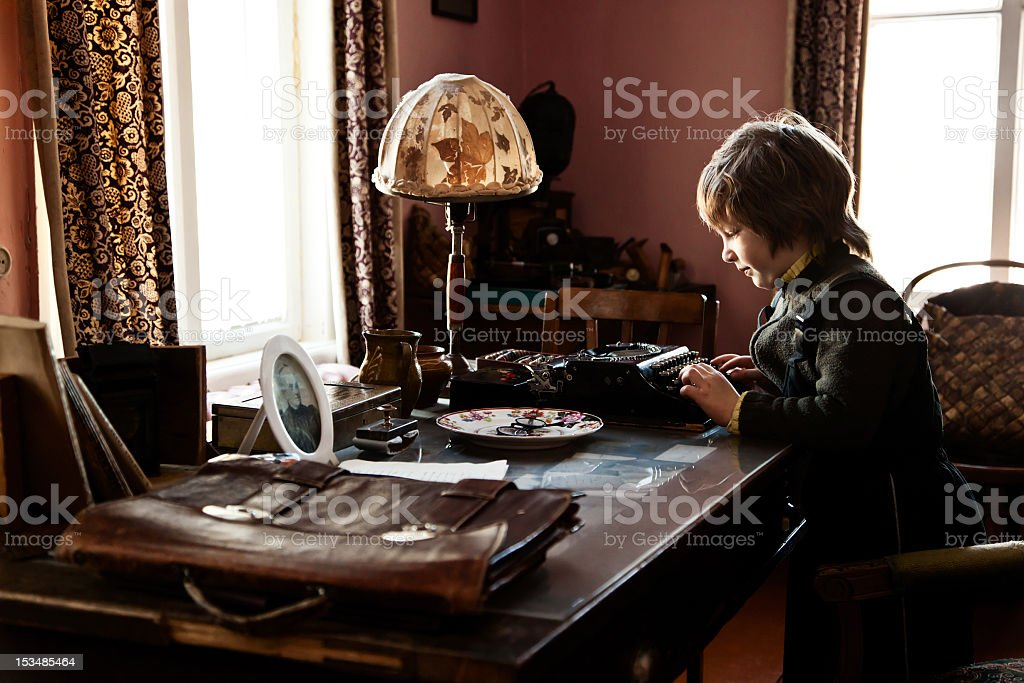 Young author royalty-free stock photo