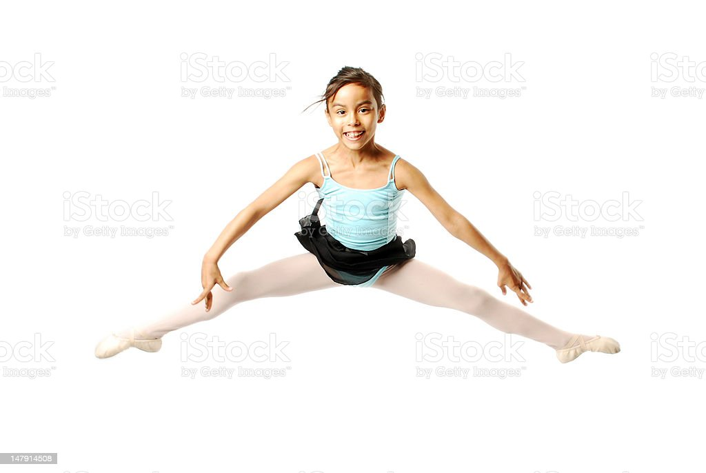 Young Ballerina Jumping royalty-free stock photo