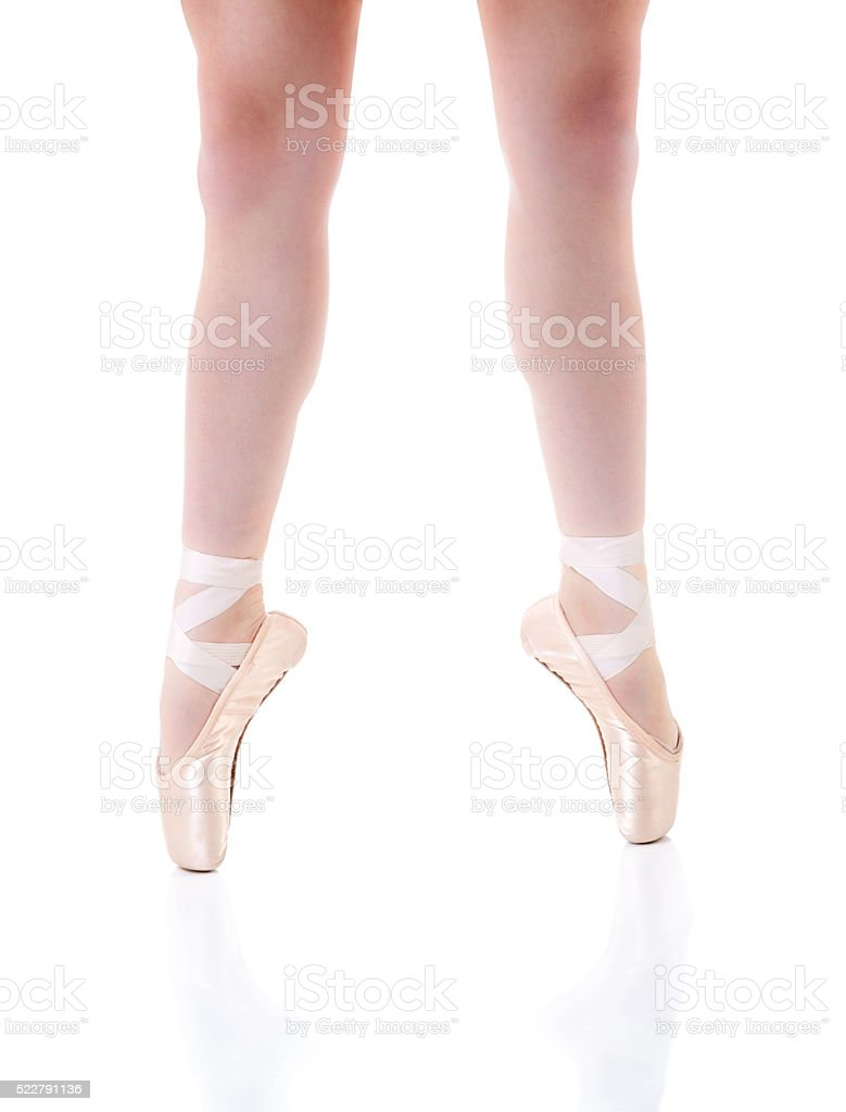 Young Ballerina on Pointe Shoes stock photo