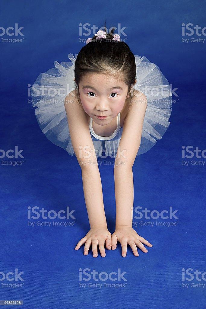 Young ballet dancer wearing an tutu royalty-free stock photo