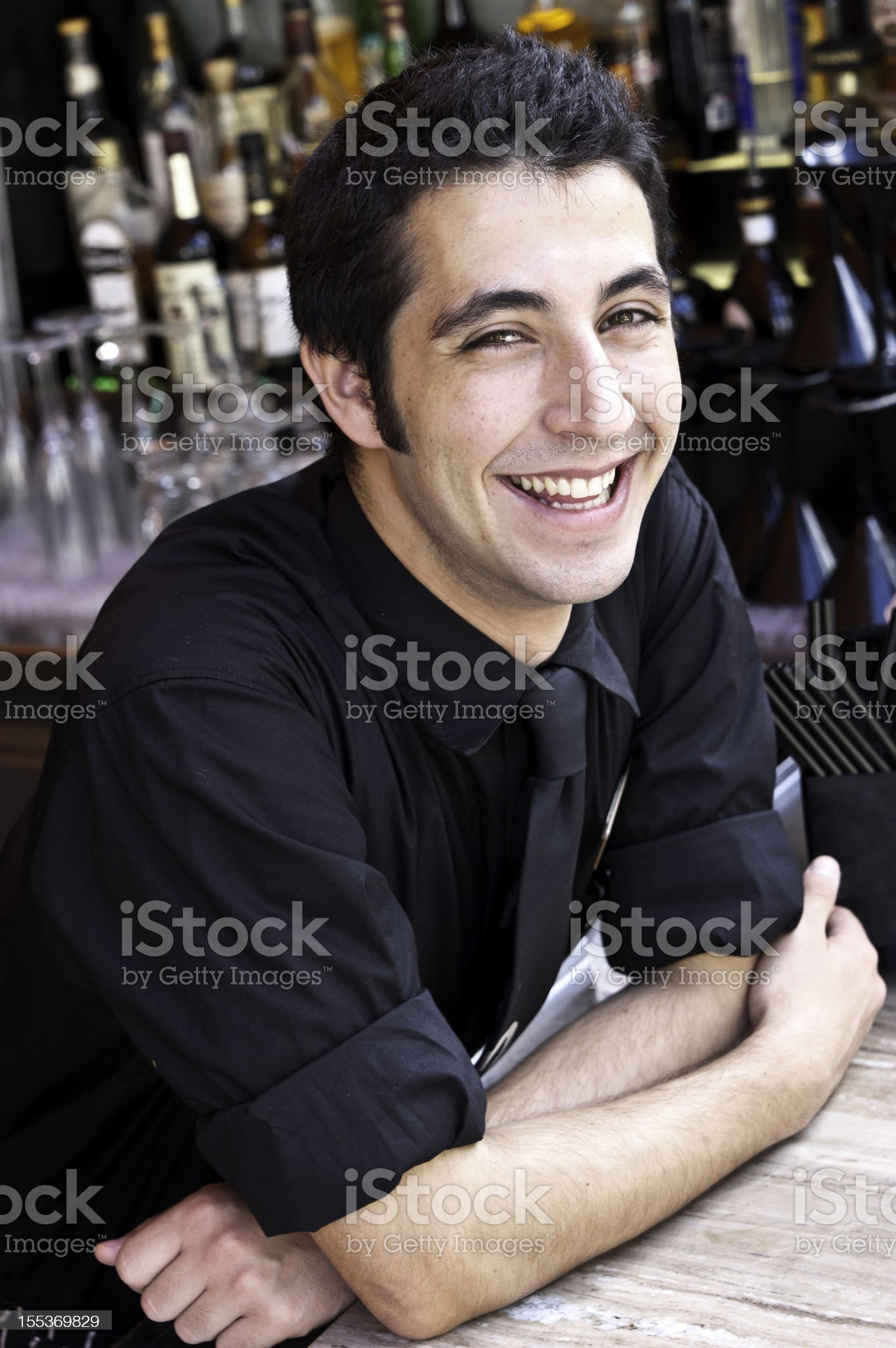 Young bartender royalty-free stock photo