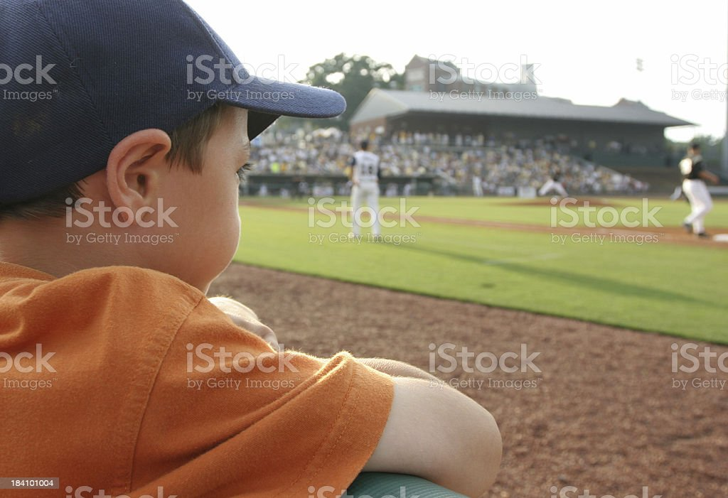 Young baseball fan royalty-free stock photo