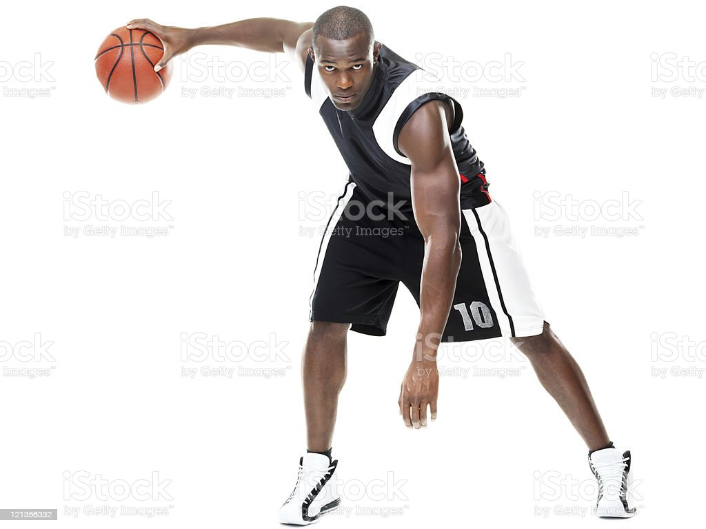Young basketball player in action royalty-free stock photo