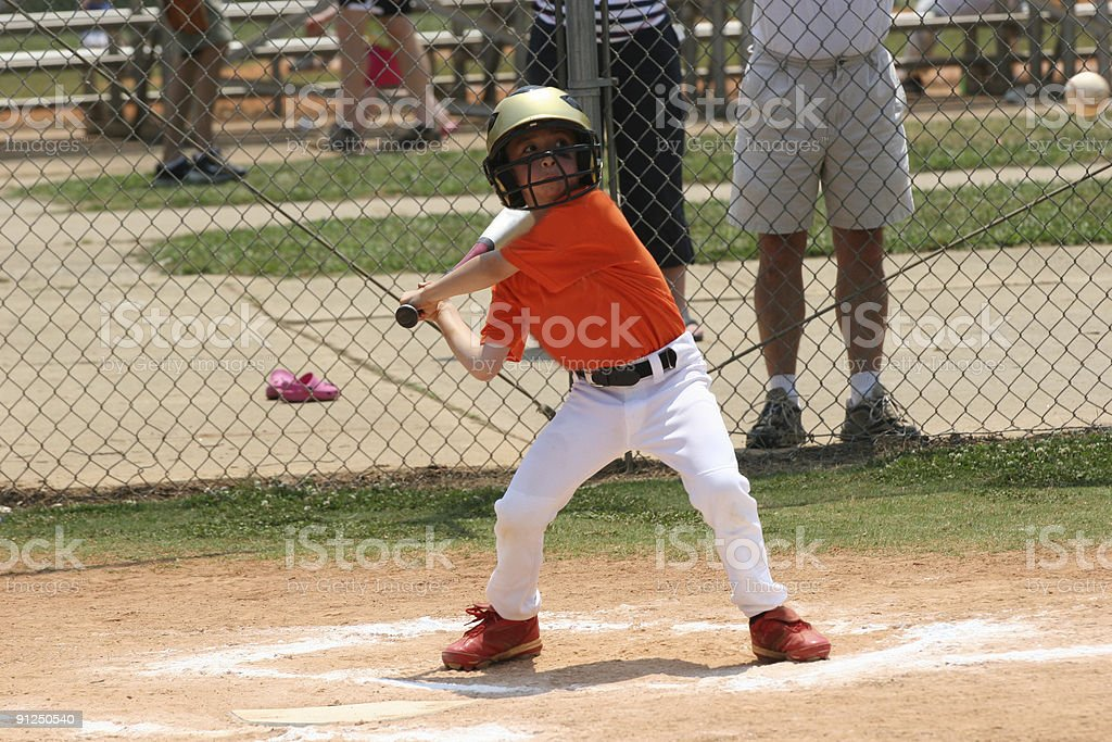 Young batter royalty-free stock photo