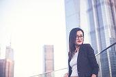 Young beautiful asian businesswoman