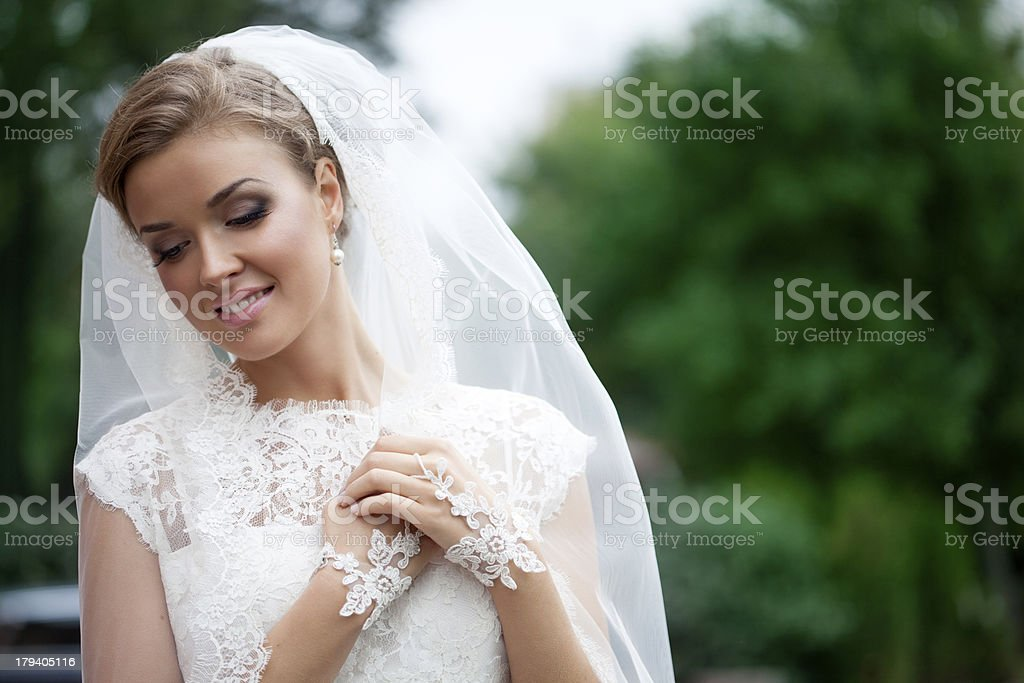 Young beautiful bride royalty-free stock photo