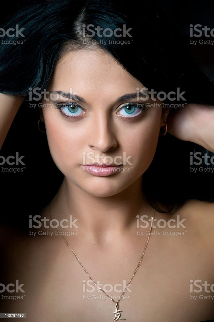 Young beautiful brunette stock photo