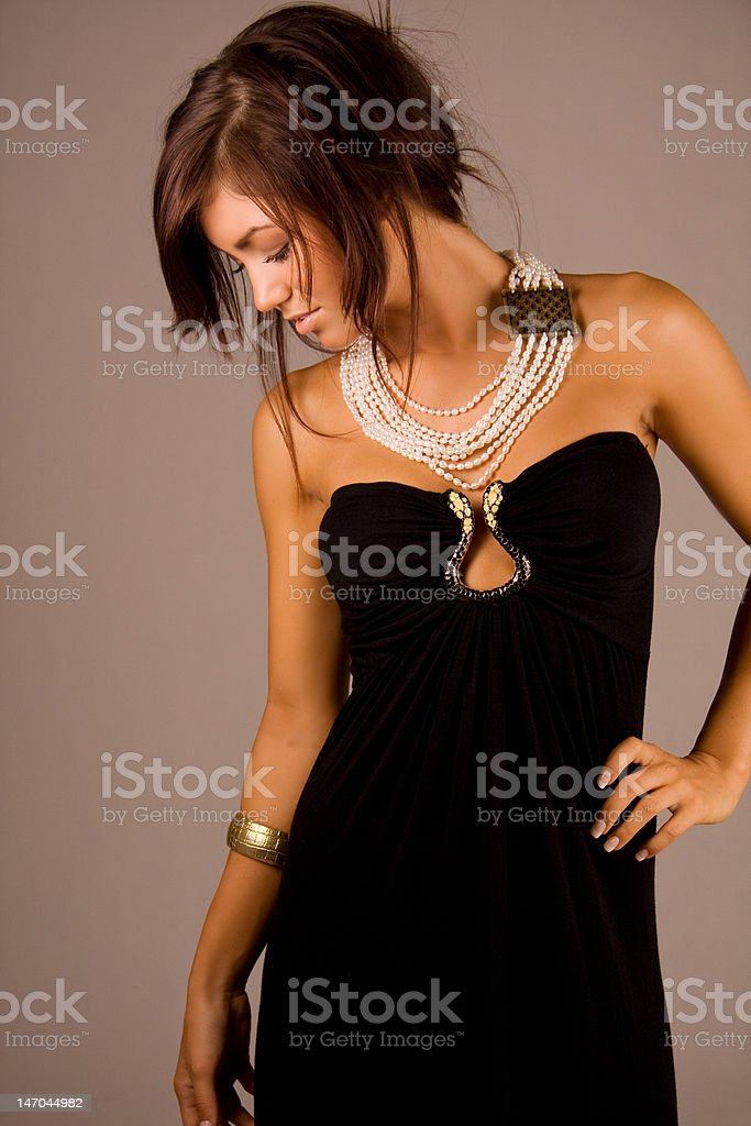 young beautiful brunette royalty-free stock photo