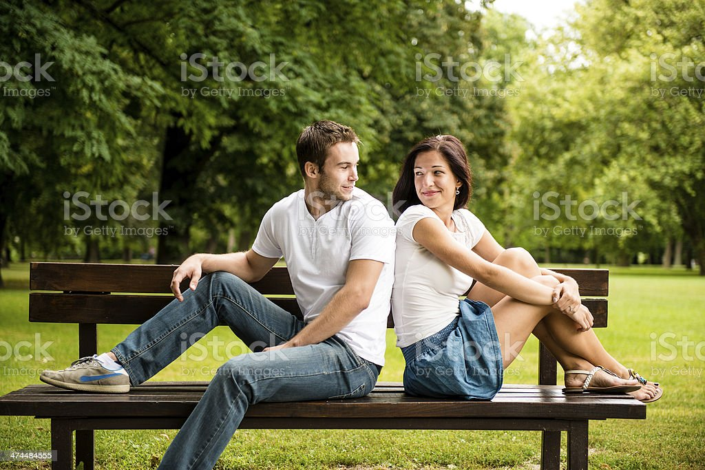 Young beautiful couple dating royalty-free stock photo