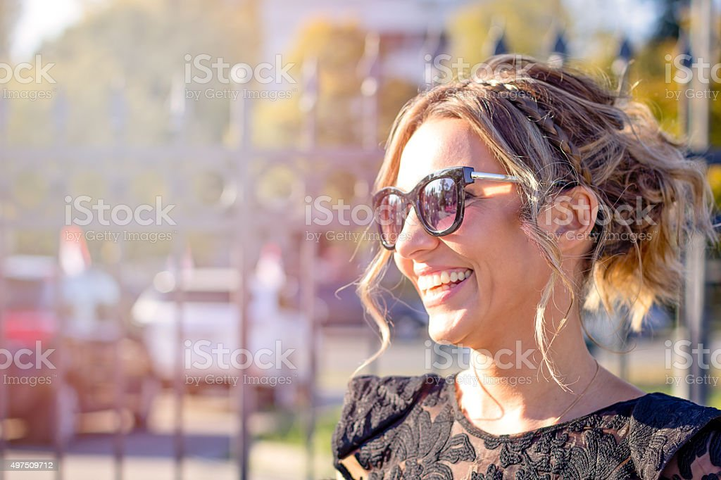 young beautiful elegant woman stock photo
