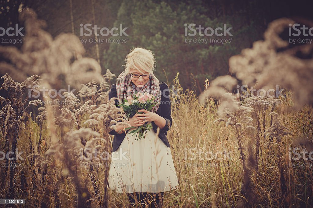 young beautiful female outdoors royalty-free stock photo