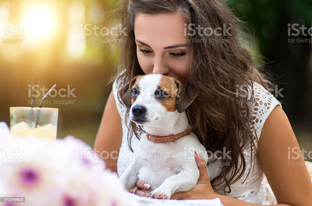 Young, beautiful girl has received a long-awaited gift - stock photo