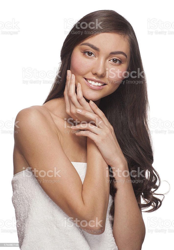 Young beautiful healthy woman royalty-free stock photo