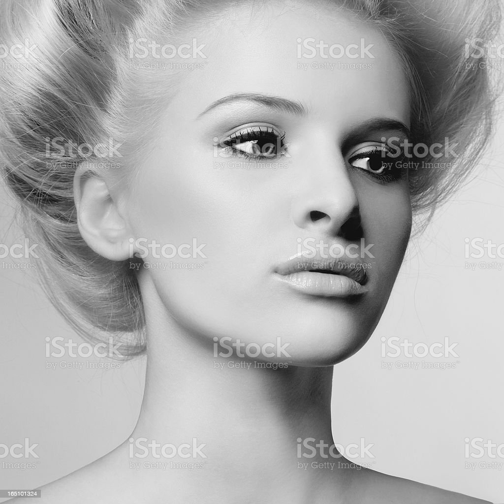 Young beautiful lady royalty-free stock photo