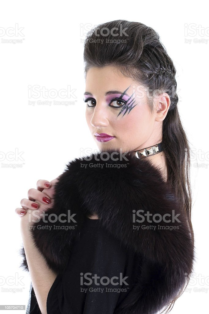 Young beautiful model stock photo