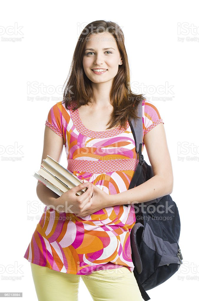 Young beautiful student stock photo
